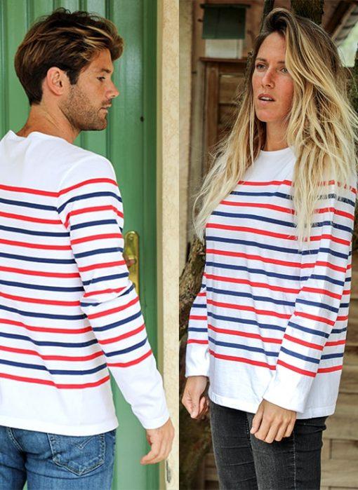 "marinière tricolore made in France "" Sud-Ouest"" Cot' & Bord de Mer"