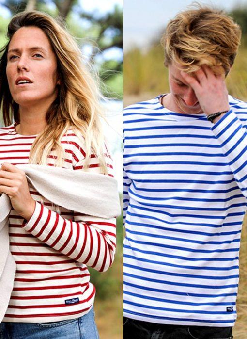 Marinière mixte tricot rayé marin La Soulacaise | Femme - Cot Bord de Mer 33