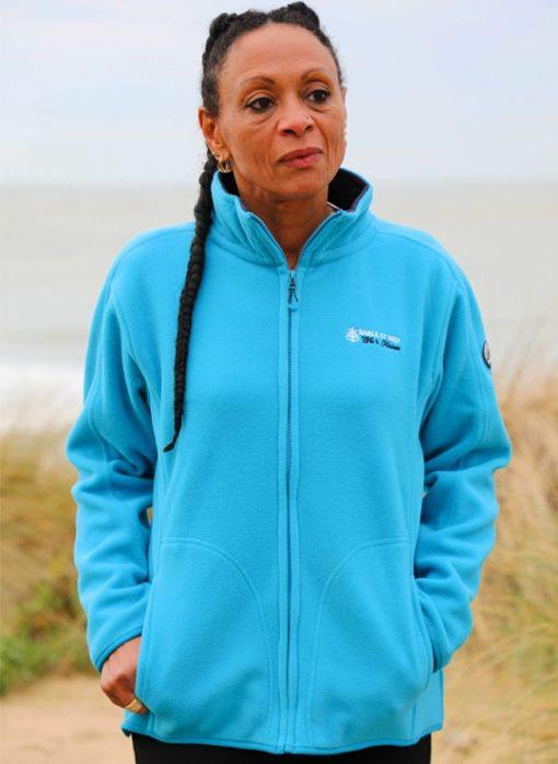 Veste polaire sable et mer turquoise Cot' & Bord de mer