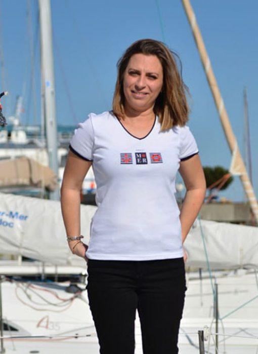 T shirt sable et mer Cot' & Bord de Mer