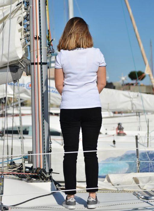 T-shirt sable et mer blanc Cot' & Bord de Mer