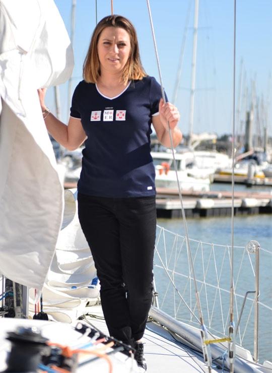T-shirt sable et mer marine Cot' & Bord de Mer