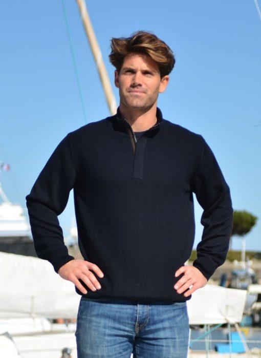 Pull mérinos Yachting club Cot' & Bord de Mer