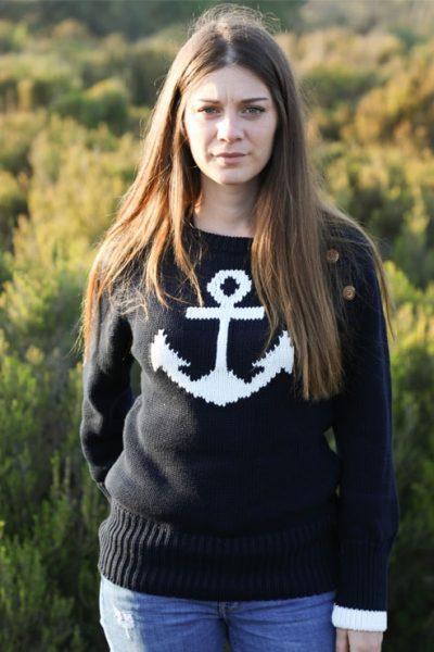 Pull coton Sable & Mer Cot' & Bord de Mer