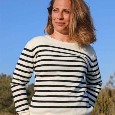 Pull laine mérinos Sable & Mer Cot' & Bord de Mer