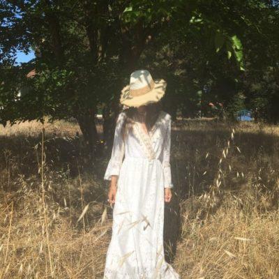 robe blanche longue bohème chic