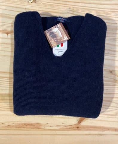pull bleu marine pour femme en laine chaude