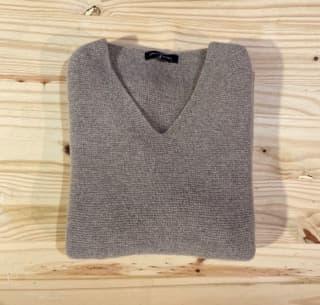pull chaud en laine pour femme couleur taupe