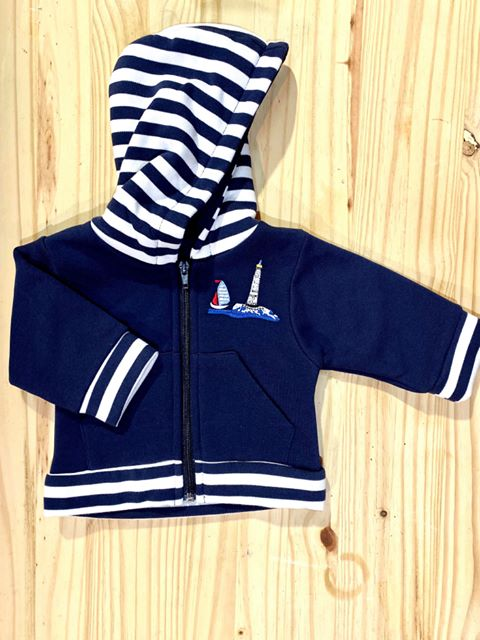 veste marin à capuche bébé