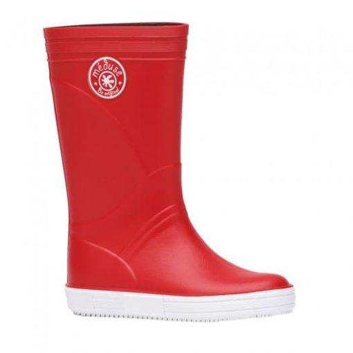 botte de pluie homme femme enfant rouge