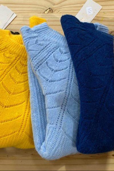 pull en laine mohair femme