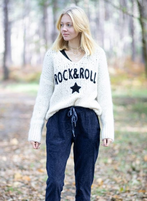 PULL AVEC INSCRIPTION ROCK & ROLL