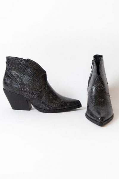 BOTTINES JEEINI – GRIS NOIR