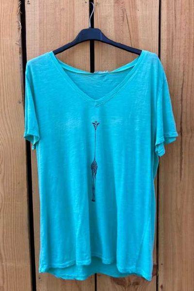 tee shirt bleu femme